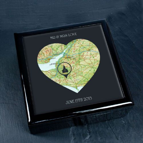 Personalised Special Places In Heart Keepsake Box